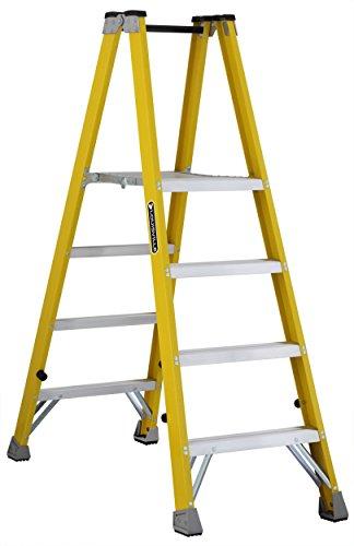 Platform Step Twin Ladder (Louisville FMP2004 Twin Front Platform Ladder with 4-Feet Standing Height, 24 X 14.4-Inch)