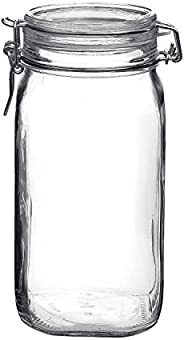 Bormioli Rocco Fido Clear Glass Jar with 85 mm Gasket, 1.5 Liter KC74556