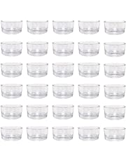 """30 PCS Clear Glass Tealight Candle Holders, Use for Weddings Parties Dinner,1.6"""" Diameter"""