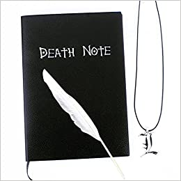 Cuaderno Death Note , fenihooy Death Note Diario Anime con pluma y cadena para Cosplay, oficina, escuela, regalo, los mejores regalos para los amantes de los cosplay.( 21 x 15 cm, 148 páginas )