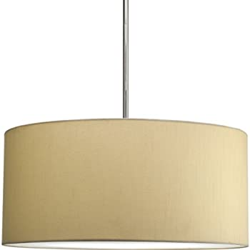 fabric pendant lighting. Progress Lighting P8825-01 Markor Modular Silken-Fabric Pendant Shade, Beige Fabric A