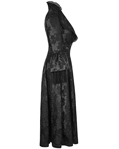 Victoriano Dama Gótico Largas Steampunker Para Rave Negro Chaqueta Punk Vestido Regency fExgOzqzw