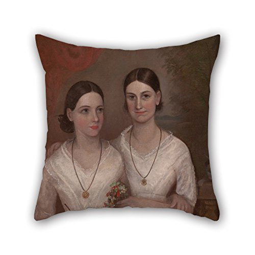 Artistdecor 20 X 20 Inches / 50 By 50 Cm Oil Painting Frederick Strange - Misses Isabella And Fanny, Daughters Of The Reverend William Browne Pillow Covers ,twin Sides Ornament And Gift To Kids (Isabella Elephant Costume)