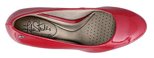 Lifestride Womens Parigi Classic Red Gem Patent