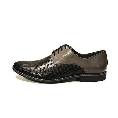 Modello Gianni - a mano scarpe di cuoio italiane colorate Oxfords Casual Shoes formale Premium Unique pizzo regalo uomini di travestimento dellannata delle