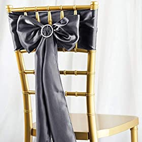 BalsaCircle 10 Satin Chair Sashes Bows Ties &#8211...