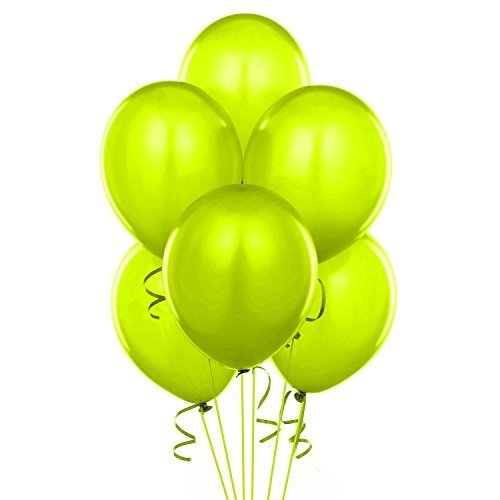 24 Inch Lime Green Latex Balloons (Premium Helium Quality) Pkg of 10