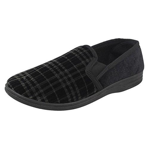 a Zapatillas en para cuadros Negro hombre Negro 60 Spot 60 S M q5EwdxtI