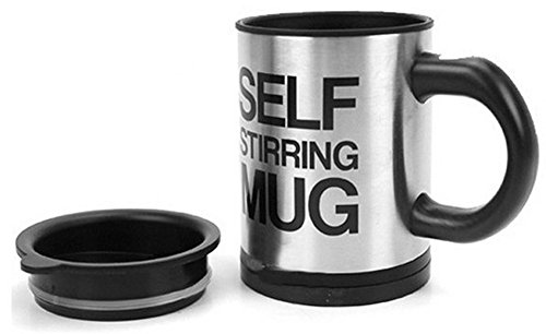 [Chariot Trading - 350ml Automatic coffee mixing cup drinkware stainless steel] (Cup Halloween Sipper)