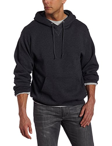 Russell Athletic Men's Dri Power Pullover Fleece Hoodie, Black Heather, X-Large