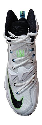 Nike Heren Lebron Xiii Basketbalschoen Witte Wolf Grijs Groen 100