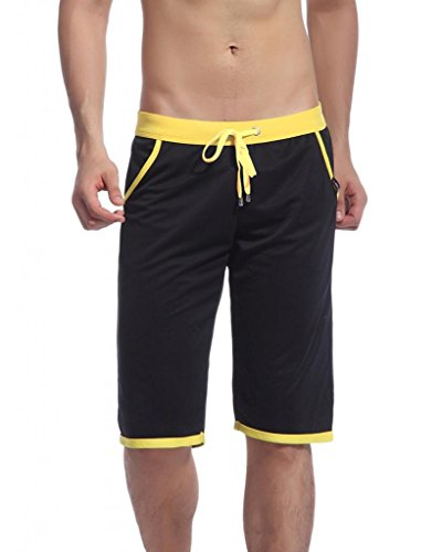 Showtime Men's Casual Pocketed Sports Knee High Shorts