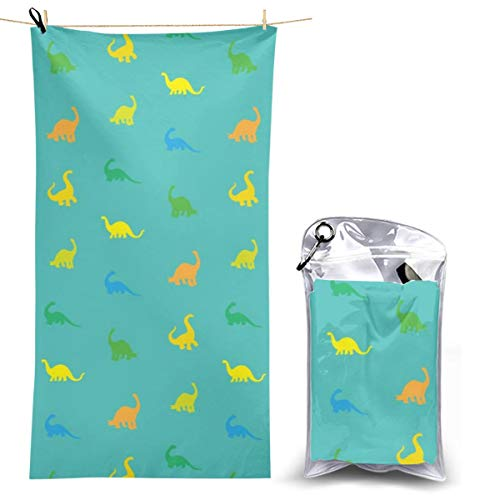 YOULUCK-7 Quick-Dry Microfiber Bath Towels, Dinosaurs Pattern Soft Towel]()
