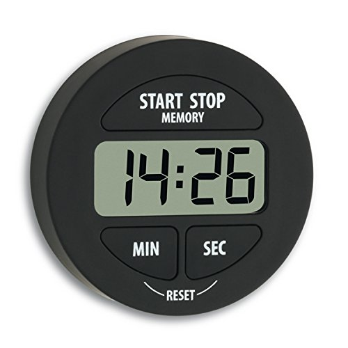 TFA 38.2022.01 elektronischer Timer und Stoppuhr Schwarz