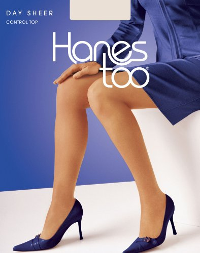 Hanes Silk Reflections Women's Too Day Sheer Control Top Reinforced Toe Pantyhose, Pearl, AB