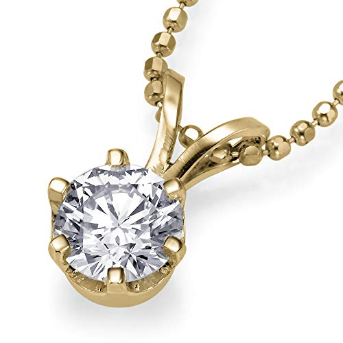 Christmas Gift Sale Real Natural 0.40 ct I I1 Diamond Pendant Chain Necklace Solitaire Solid 14k Yellow Gold Slider 27849015 from Rothem Collection