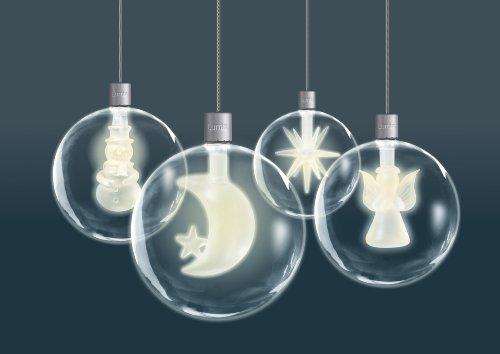 Lumix Weihnachtsbeleuchtung.Krinner Lumix Light Balls 76000 Pack Of 4 Mouth Blown Glass Baubles