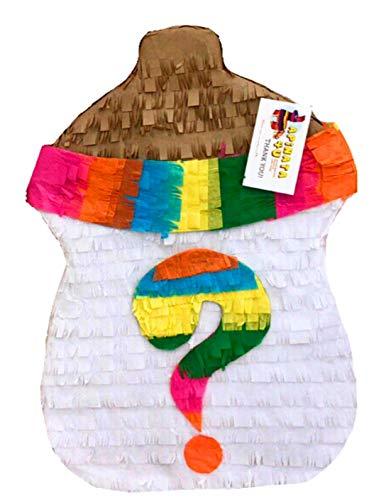 APINATA4U Gender Reveal Pinata Baby Bottle Shape Fiesta Theme -