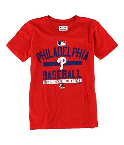 - Majestic Boys Philadelphia Phillies Team Property Graphic T-Shirt philliesred XL
