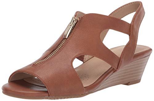 HAPPENSTANCE Wedge Sandal, Dark Tan, 5.5 M US ()