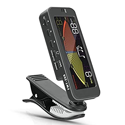 Guitar Tuner Clip-On for All Instruments- Guitar, Bass, Violin, Ukulele & Chromatic