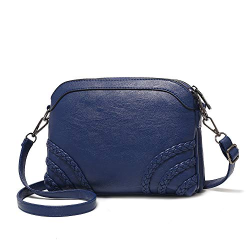(Crossbody Bag for Women Small Leather Phone Purse Wallet Shoulder Bag Trendy Ladies Wristlet Clutch (Blue b) )