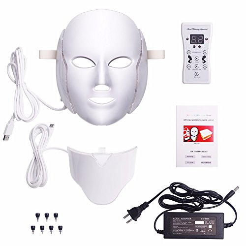 KEEP 7 Colors Light LED Facial Mask With Neck Skin Rejuvenation Face Care Kits by Keep