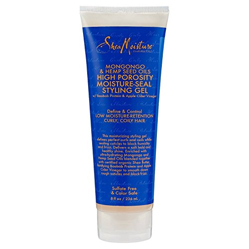 Shea Moisture Mongongo & Hemp Seed Oils High Porosity Moisture-Seal Styling Gel, 8 Ounce