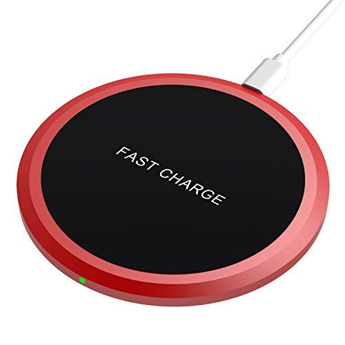 Wireless Charger, GEARGO Qi Fast Charging Pad Station Compatible Phone X/8/8 Plus, Ultra Slim Wireless Charging Pad for Galaxy S8/S8+/S7/S7 Edge/S6 Edge+, and Note 5(No AC Adapter)