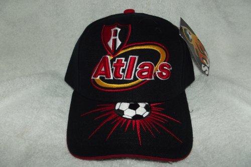 未接続ビジョン病者新しい。ブラッククラブ社会Y Deportivo Atlas de Guadalajara Zorros 3d刺繍調節可能ベルクロバックキャップサッカー帽子