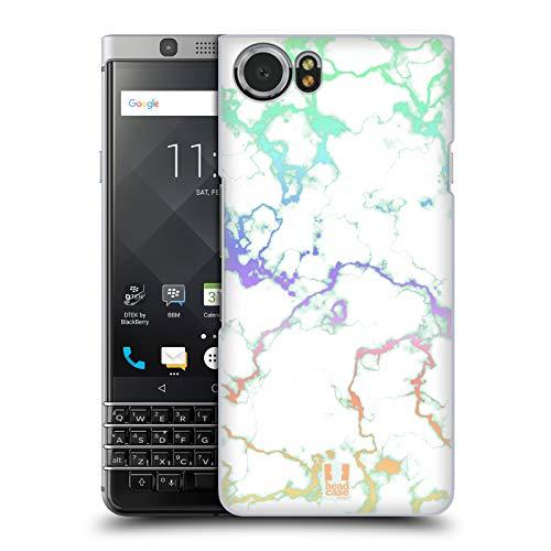 Head Case Designs Rainbow Iridiscent Marble Hard Back Case Compatible for BlackBerry KEYone/Mercury