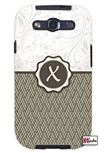 Cool Painting Monogram Initial Letter X Unique Quality Soft Rubber Case for Samsung Galaxy S4 I9500 - White Case
