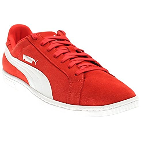 ... official store puma mens smash leather classic sneaker 10 dm us high  risk red white red 6c3316c9f
