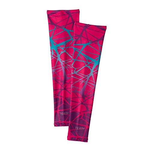 Jersey Arm Warmers - Terry Bella Sun Sleeves For Women Cycling Arm Warmers MTB Ladies Bike Armwarmer Sleeves UV Protection - Tangled/Purple - Medium