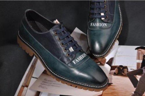 Happyshop (tm) Herenmode Schoenen Koe Lederen Drijfschoenen Bussines Schoenen Comfort Lace Up Penny Loafers Paarsachtig Blauw