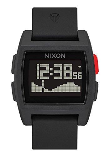 Nixon Base Tide Digital Watch Black Red