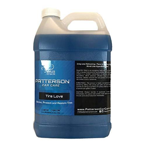 Honest Wash Patterson Car Care Tire Love 1 Gallon, Tire Dressing. Wet & Slick Finish, Protects Tires from Fading & Cracking. Perfect for Cars, Trucks, SUVs, Motorcycles. Big Value Sized Bottle.