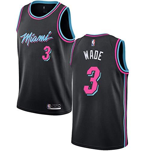 Mitchell & Ness Men's Miami Heat Dwyane Wade Swingman Jersey #3- Black ()