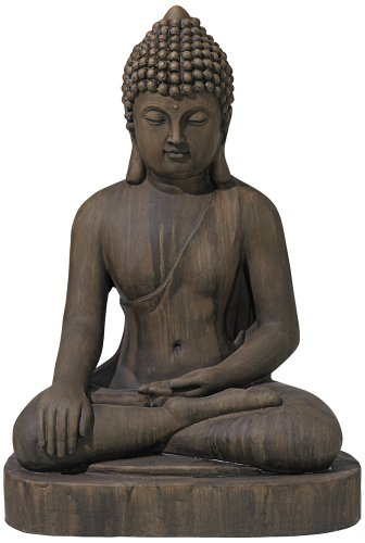 Sitting Buddha 29 1/2″ High Faux Sandstone Outdoor Statue