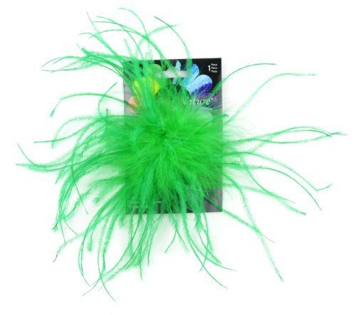 Touch of Nature 40333 Ostrich/Fluffy Clip, Kelly Green