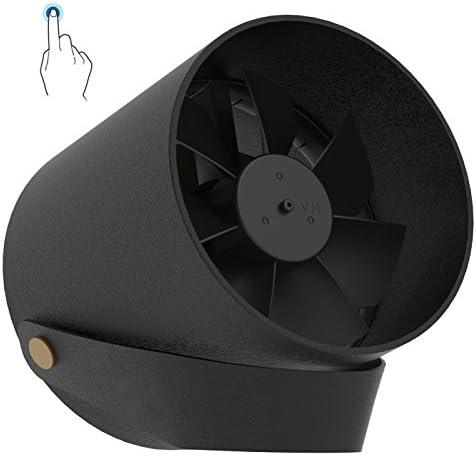MENQANG USB Desk Fan Portable Mini Table Fan Twin Turbo Blades Whisper Quiet Cyclone Air Technology – Touch Control Fan