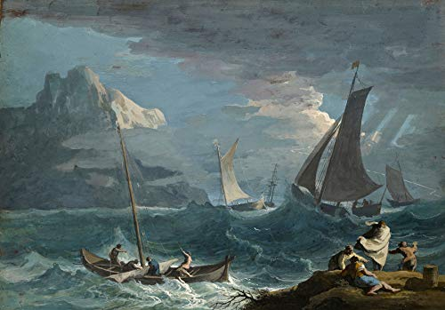 Marco Ricci Fishing Boats in a Storm 1715 J. Paul Getty Museum - Los Angeles 30