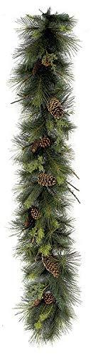 6 Foot Mixed Austrian/Sugar Pine Garland w/Pine Cones Autograph -