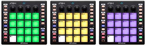PreSonus ATOM MIDI, Audio, Portable Production and Performance Pad Controller w/Professional Studio Recording Headphones