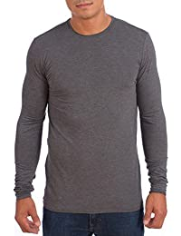 Mens Dri-Fit Crew Neck Athletic Long Sleeve Peformance Shirt