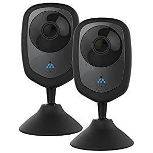 Momentum 2 Pack HD Wireless Indoor Home Security Camera with Two-Way Audio, Night Vision, Pet Monitor for iOS & Android