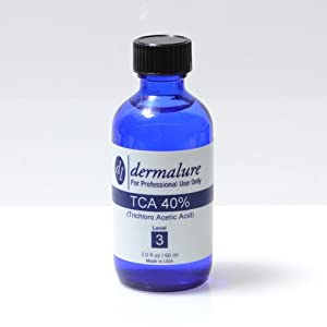 Trichloro Acetic Acid - TCA Peel 40% 2oz. 60ml (Level 3 pH 0.8) made by Dermalure