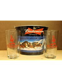 Get Budweiser Clydesdale Beer Ice Bucket 5qt with 2 Glasses occupation