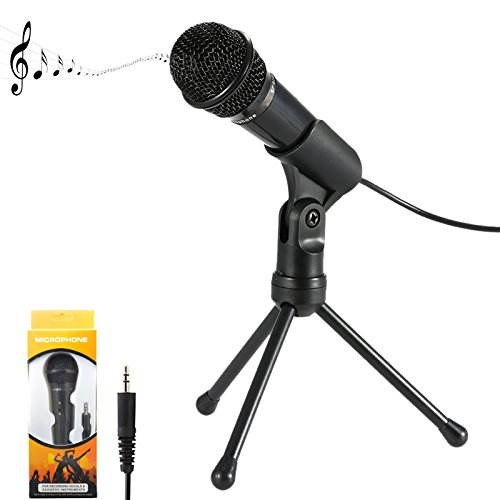 Jeystar SF-910 Condenser Sound Microphone with 3.5mm Audio Plug & Tripo For Computer PC by Jeystar (Image #1)