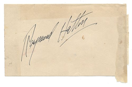 Raymond Hatton (d.1971) Vintage Cut Signature- Silent Film Actor